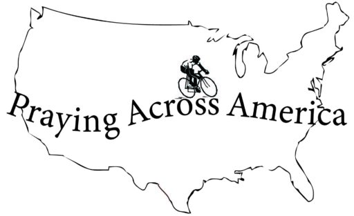 Praying Across America map with bike